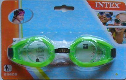 Okulary okularki do pływania PLAY INTEX 55602 zielone