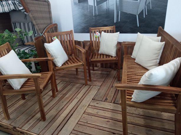 Zestaw ławka i 3 krzesła