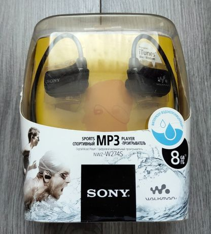 Плеер MP3 наушники Sony NWZ-W274S Walkman 8 ГБ Оригинал!
