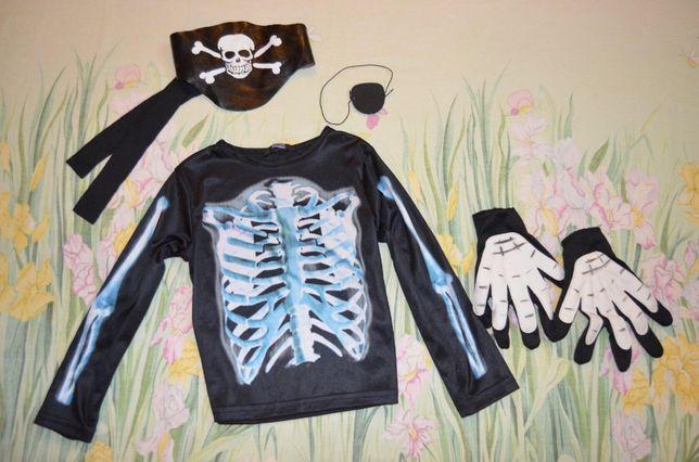 Новогодний карнавальный костюм 5-6 лет пират, скелет кощей