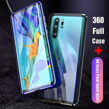 Магнитный чехол Full Glass 360 Huawei P20 P30 Mate 10 20 30 Lite Pro