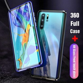 Магнитный чехол Full Glass 360 Huawei P20 P30 Mate 10 20 30 Lite Pro