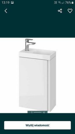 Umywalka z szafka  cersanit biała moduło 40/20 .