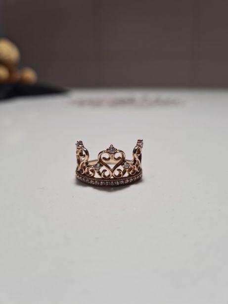 кольцо золотое корона