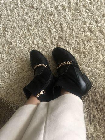 Ботинки сапоги челси кожание как zara mango esrto