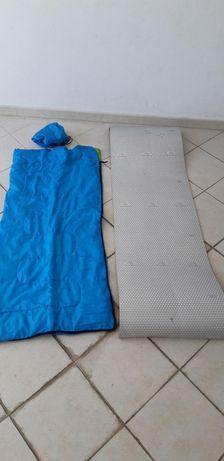 Saco de cama + esteira de criança
