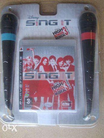 PS3 jogo singit com par de microfones