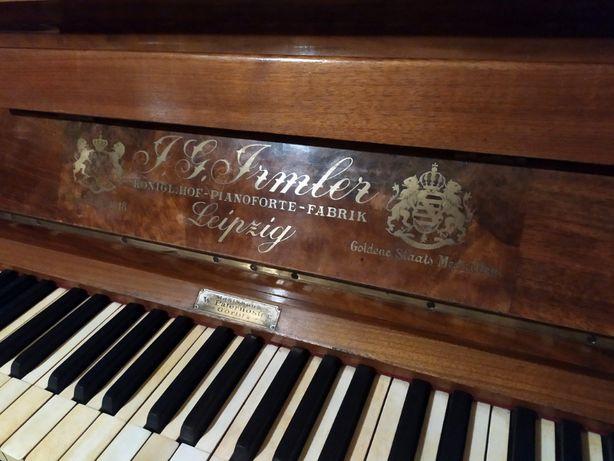 Pianino IRMLER Leipzig Antyk XIX w