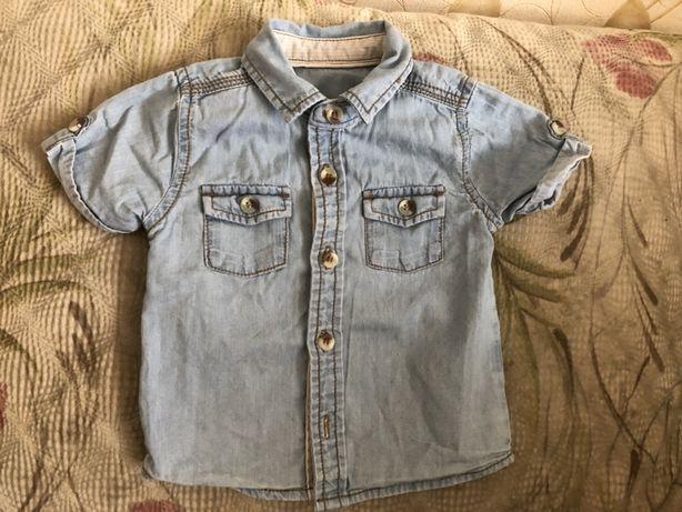 Рубашка тенниска джинсовая х/б 3/6 месяцев Gerge 90грн
