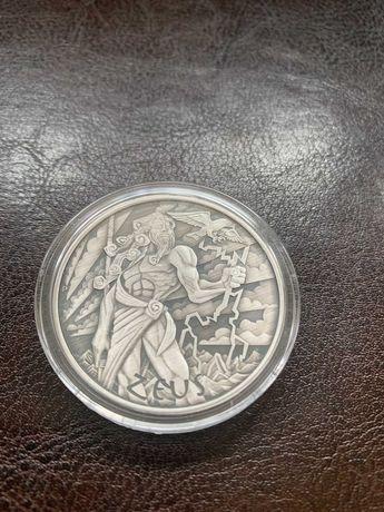 Moneta srebrna z serii Bogowie Olimpu ZEUS 2020 fabrycznie oksydowany