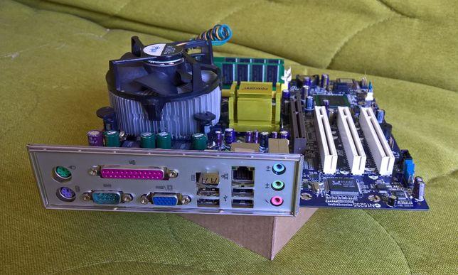 Рэтро набор №2 Foxconn 865G7MF + P4 3.0Gg + 2Gb DDR1, Встроенное виде