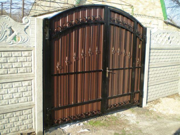Ворота кованые (калитка внутри) Донецк, Макеевка 44500 руб