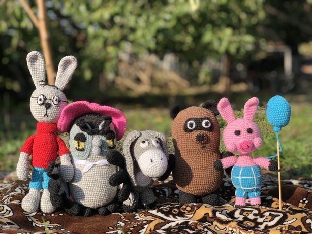 Коллекция вязаных игрушек «Винни Пух»