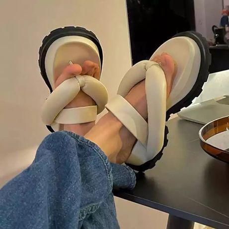 Шлепанцы Rimocy женские на толстой платформе, повседневные сандалии с