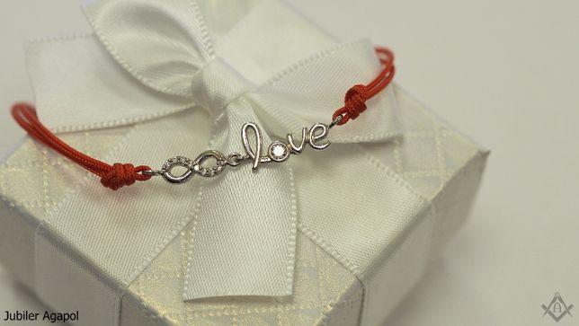 bransoletka na czerwonym sznurku Jubiler Agapol