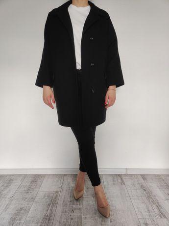 Черное демисезонное пальто Sisley (M)