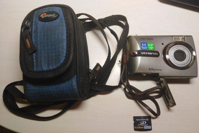 Цифровий фотоапарат OLYMPUS FE-140, б.в. + чохол і карта пам'яті