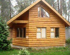 Панельный дом, дома из дерева, дом из дерева под ключ