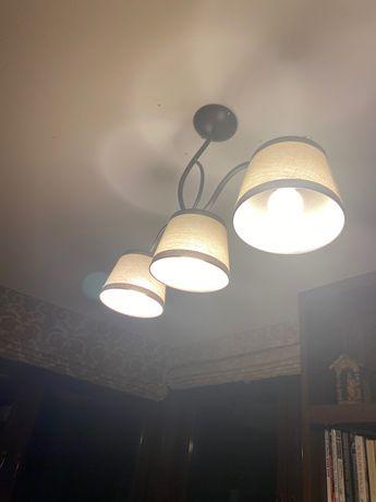 Wisząca Lampa z trzema abażurami