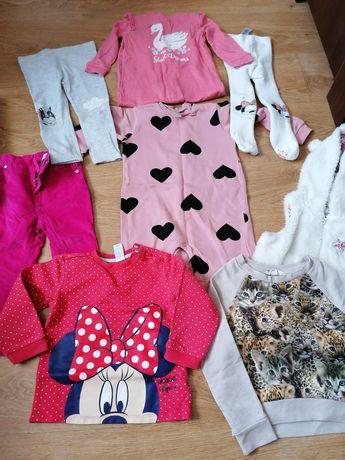 Paka ubranek dla dziewczynki 86 Myszka Minnie H&M