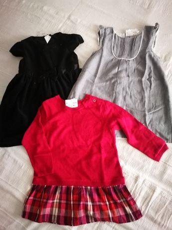 3 vestidos 12-18-24 NOVOS