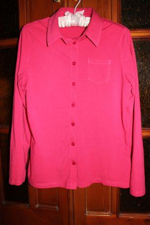 Малиновая трикотажная рубашка