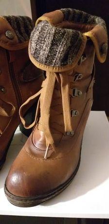 Buty damskie brązowe  roz.37