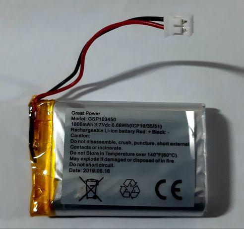 Mini baterias recarregáveis 1800mAh 3.7v