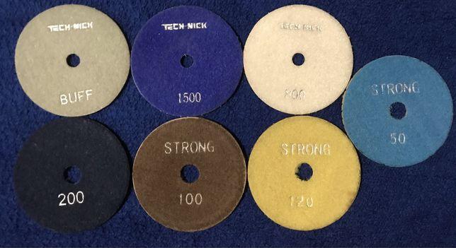 Алмазные гибкие шлифовальные круги,диски ( Липучки. Черепашки )  АГШК