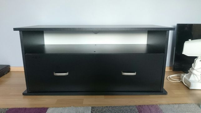 Szafka, stolik RTV czarna 105 cm + uchwyt TV na ścianę