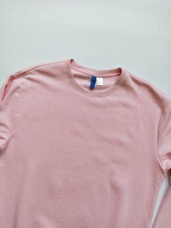 H&M size L Свитшот Мужской Розовый Базовый Кофта Толстовка