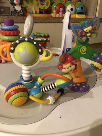 Набор игрушек на присоске для кормления Fisher price, Bright starts