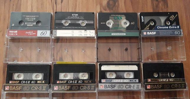KASETY MAGNETOFONOWE Tdk,Sony,Maxell,Basf - CHROME - używane