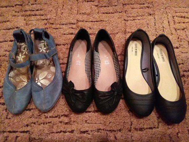 Baleriny komplet/pary, czarne, niebieskie