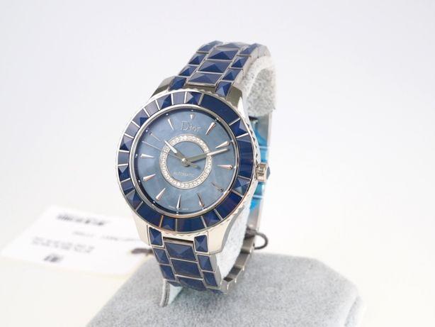 Женские новые часы Dior Christal Blue Mother of Pearl Diamond 38 мм