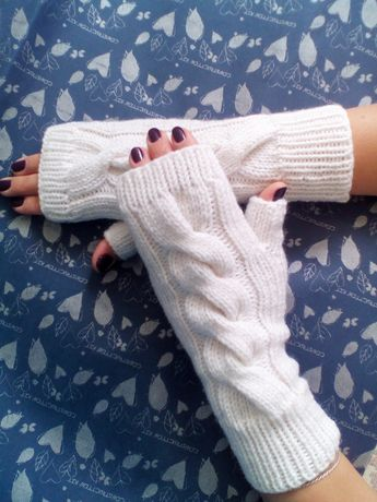 Sale! Варежки митенки перчатки повязки вязаные ручная работа