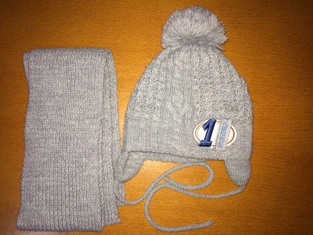 Komplet czapka i szalik dla dziecka w wieku 1-1,5 roku
