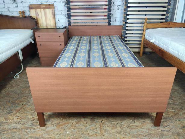 Łóżko pojedyncze 100x200 + szafka nocna, vintage retro lata 60. 70.