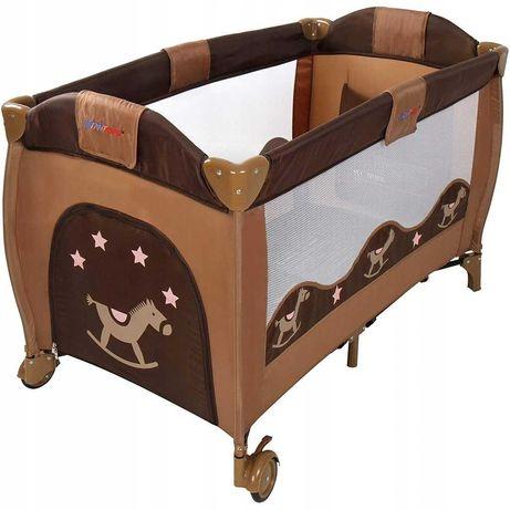 Łóżeczko turystyczne łóżko brązowe kojec Kinderkraft INFANTASTIC ŁÓDŹ
