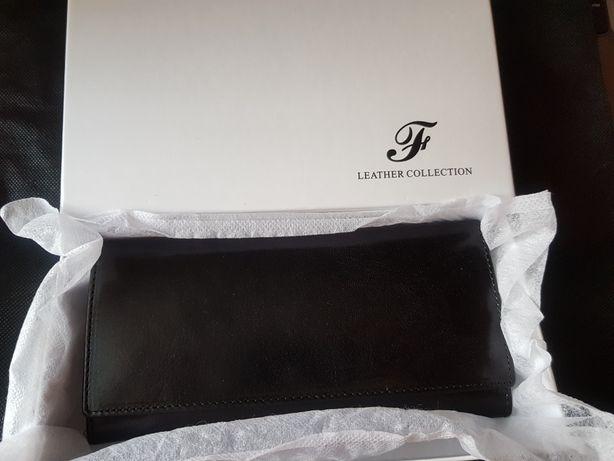 Кожаный кошелёк. Цвет: чёрный. (Новый)