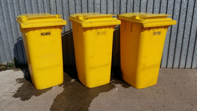 Kosz na śmieci kubeł śmietnik pojemnik na dopady 240 l mocny