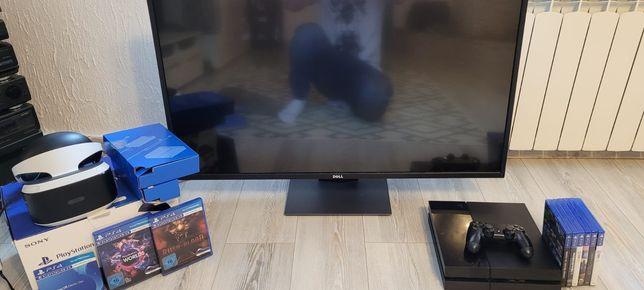 """Mega zestaw. PS4 PlayStation 4 , okulary VR , DELL P4317Q 43"""" 4K MONIT"""