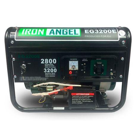 Генератор бенз IRON ANGEL EG3200E(2,8-3,0кВт)ручний та електростарт