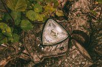 Farol Triangular Vintage Para Moto Cafe Racer/Scrambler (Branco) Nº1