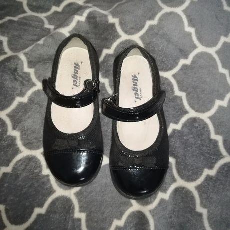 Czarne eleganckie balerinki rozmiar 26