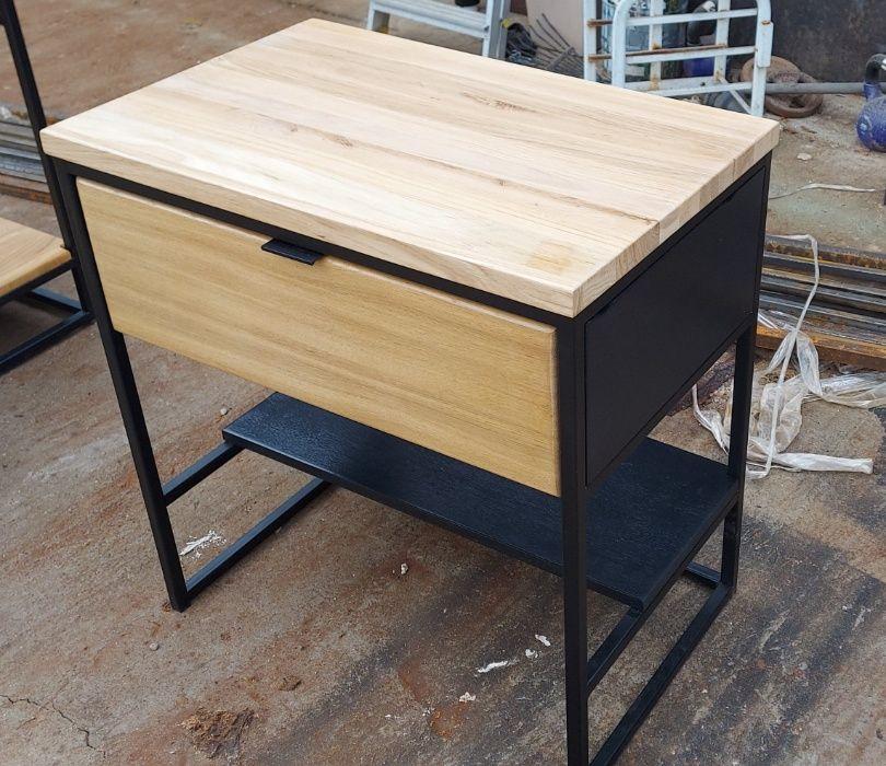 Szafka łazienkowa loft. Drewno dębowe. Wierzchowisko - image 1