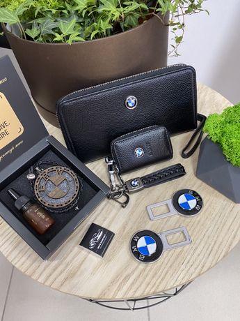 Портмоне мужское с логотипом авто, визитница, кошелек для денег