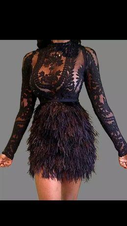 Sukienka koronkowa moda 2020 Lou xs/s