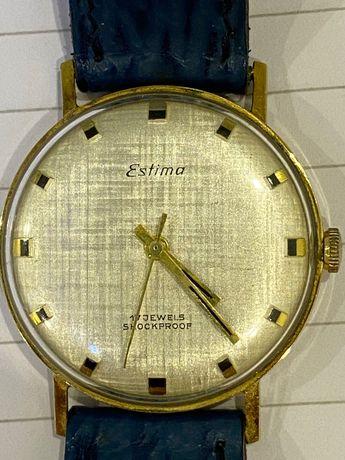 Золотые, винтажные, механические, швейцарские часы