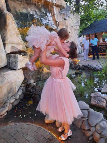 Платье мама дочка в одном стиле